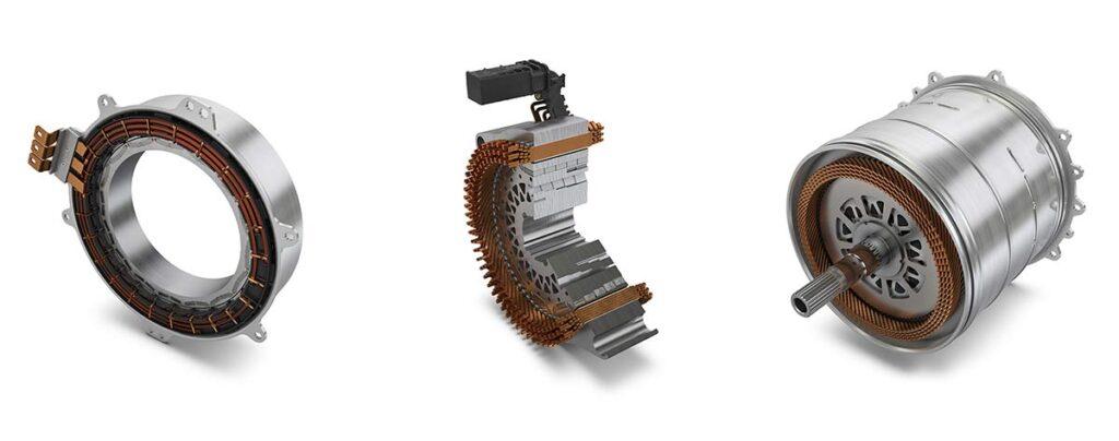 Широкий диапазон применений от 20 до более чем 300 кВт: электродвигатели компании Schaeffler для гибридных модулей, гибридной трансмиссии и полностью электрических осевых приводов. Фотография: Schaeffler