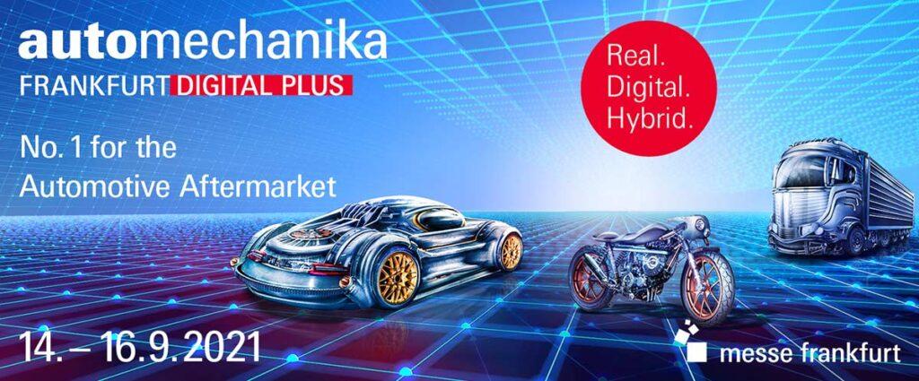 С 14 по 16 сентября 2021 года состоится уникальная выставка Automechanika Frankfurt: в формате «Digital Plus» она будет представлена только один раз