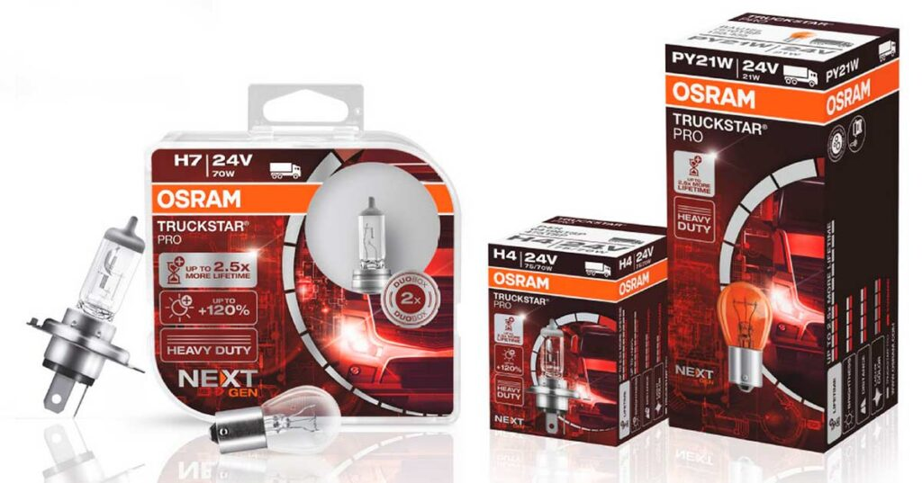 Немецкая компания Osram представляет новые галогенные лампы для коммерческого и грузового транспорта семейства TRUCKSTAR PRO NextGen