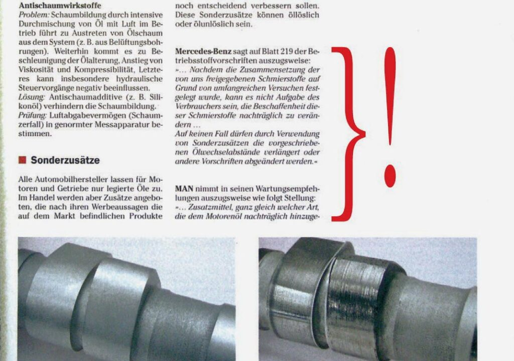 Автопроизводители единодушны: введение различных добавок в моторное масло недопустимо
