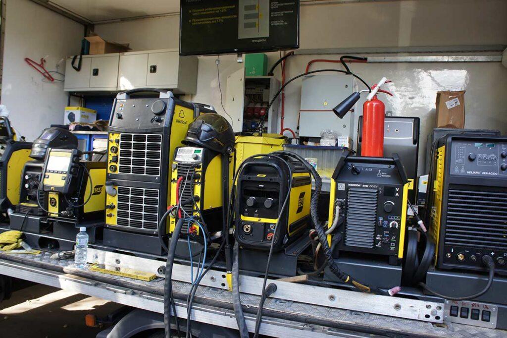 Разнообразное сварочное оборудование ESAB разместили на демо-грузовике